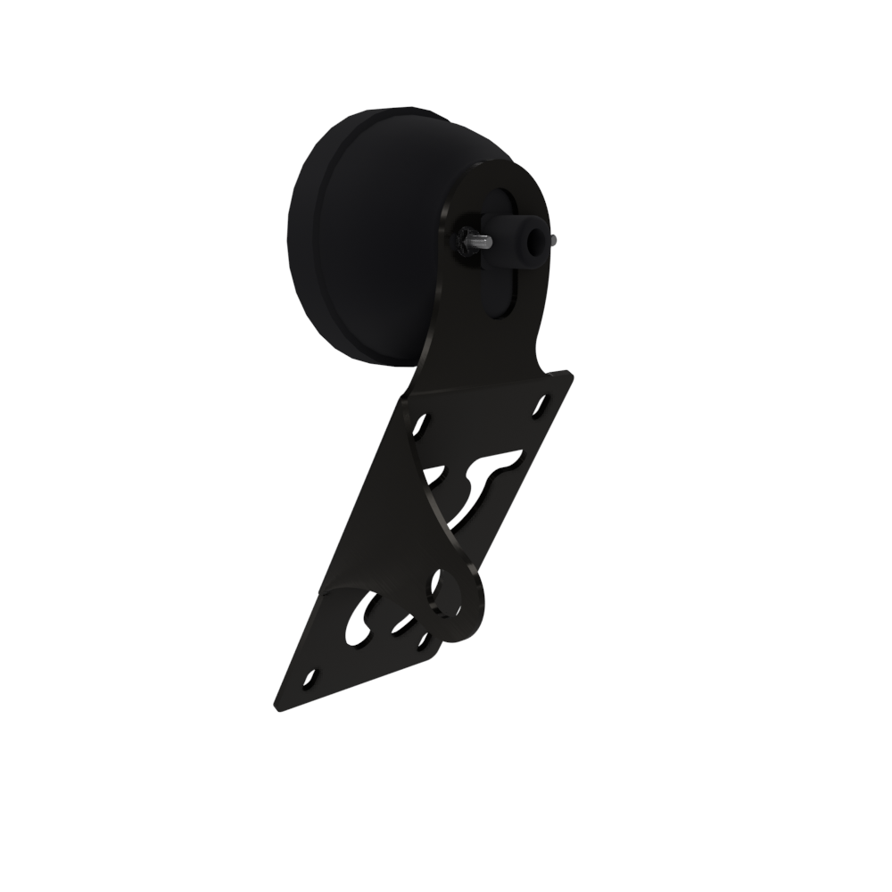 UNIVERSAL Vertical License plate bracket With Brake Light (Powder Coated)