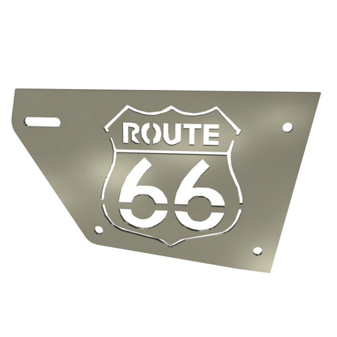 Honda Rebel CMX250 Right Side plate Route 66