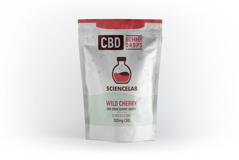 CBD Sour Gummy Drops - 100mg Total (10 pieces)