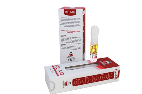 *NEW KLAR - 1:1 CBD:THC Distillate Cartridge tops - (0.5ml/0.6gram) NEW CCELL Technology