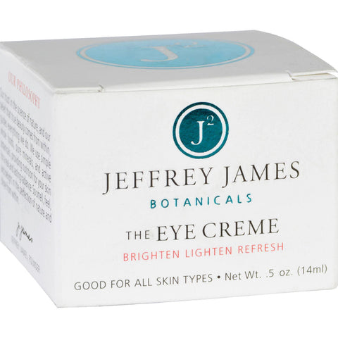 Jeffrey James Botanicals Eye Cream - The Eye Creme - Brighten Lighten Refresh - .5 Oz