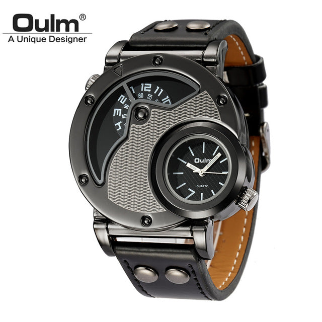 Men's Military Sport Watch Texture Black