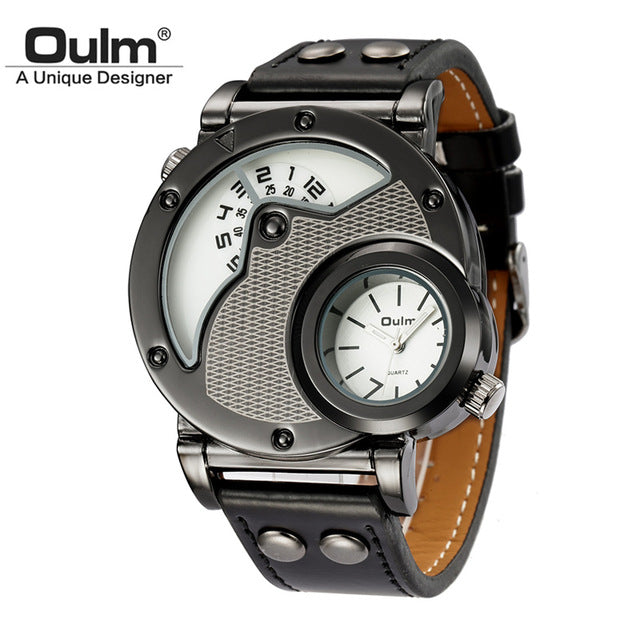 Men's Military Sport Watch Texture White