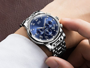 Men's Luxury Luminous Water Resistant Watch Blue