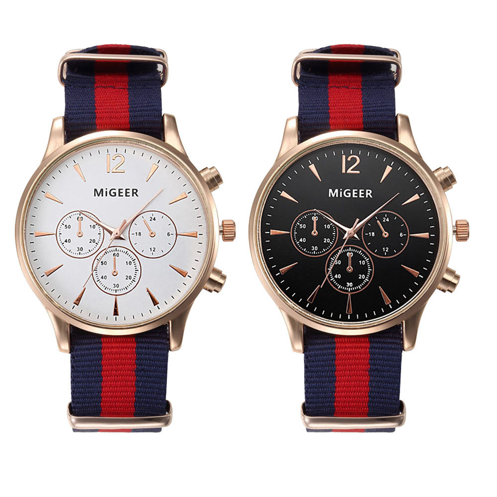 Men's Luxury Canvas Band Watch