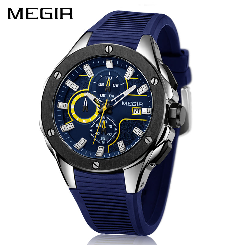 Men's Silicone Band Military Sport Watch