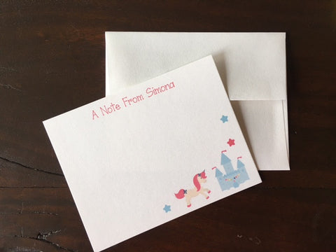 peach stream stationary - unicorns