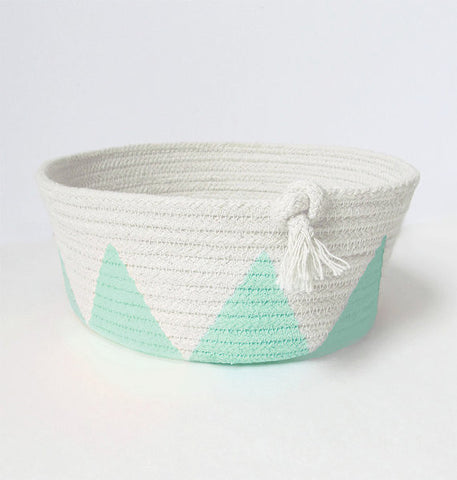 teal rope bowl peach stream