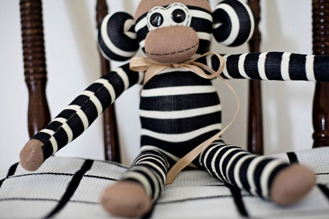 peach stream sock monkey