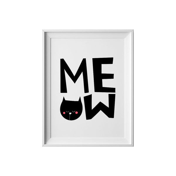 Meow, Wall Prints - Peach Stream