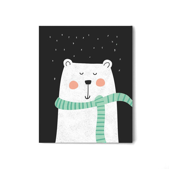 Polar Bear, Wall Prints - Peach Stream