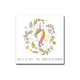 Believe In Unicorns, Wall Prints - Peach Stream
