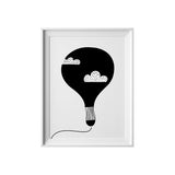 Hot Air Balloon, Wall Prints - Peach Stream