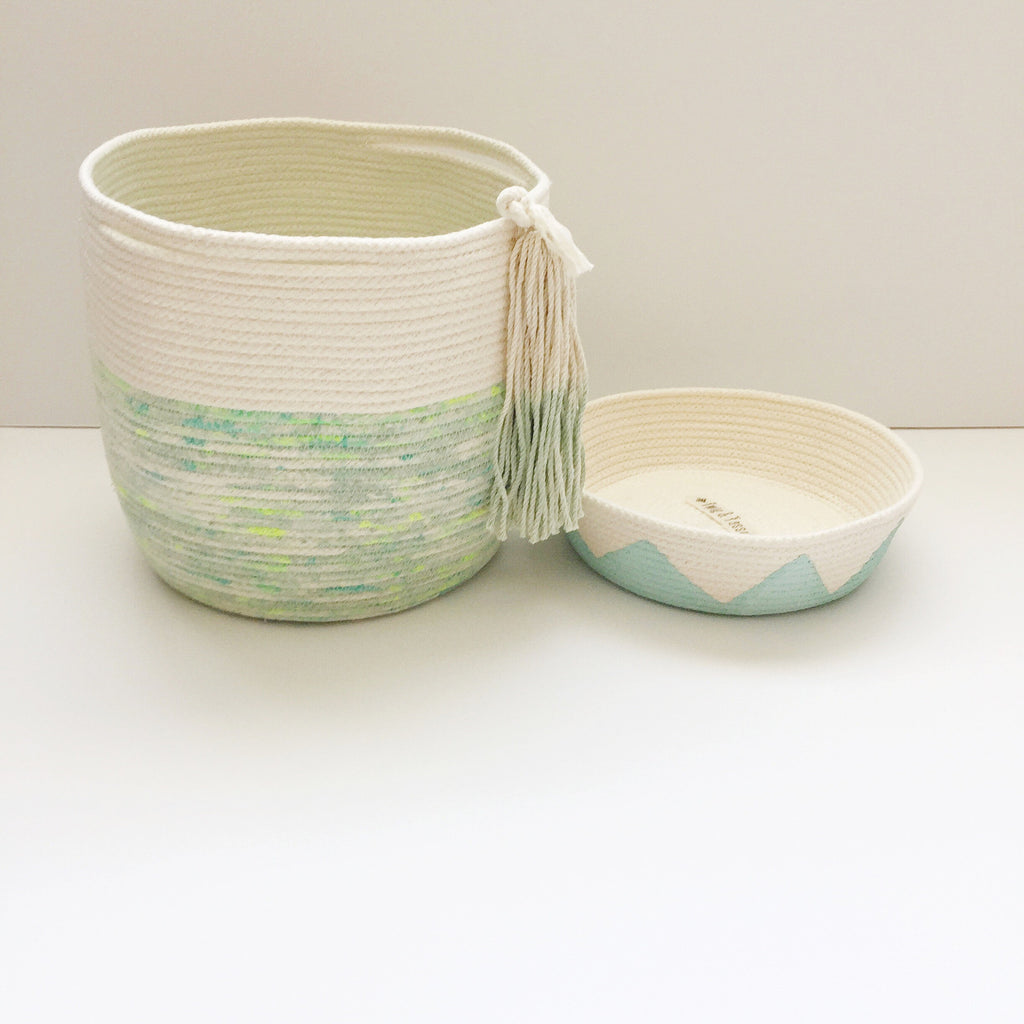 Coiled Rope Bowl - Mint