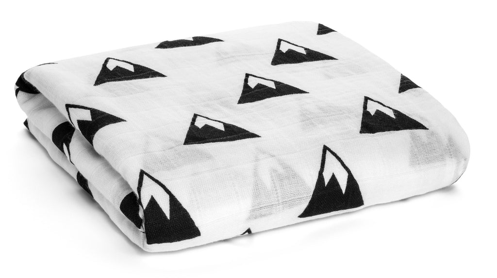 Mountains Swaddle Blanket, Swaddlers - Peach Stream