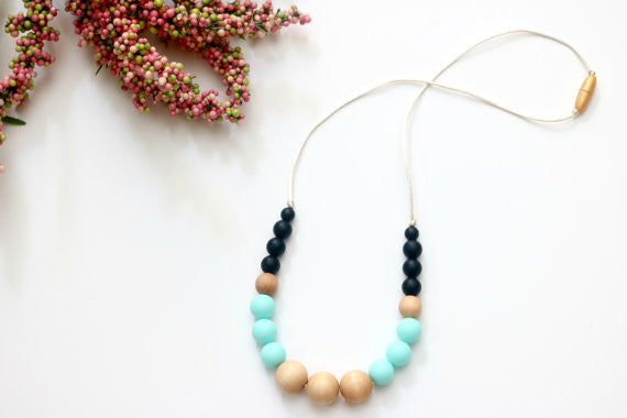 Teal Teething Necklace