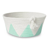 Coiled Rope Bowl - Mint, Small Storage - Peach Stream