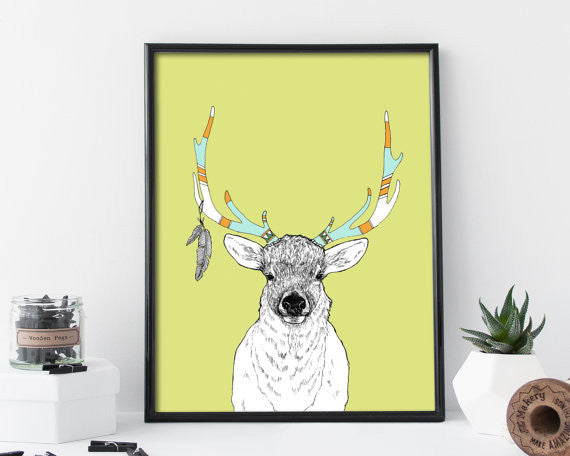 Elk and Feathers