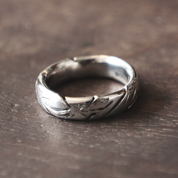 Slashed Silver Ring