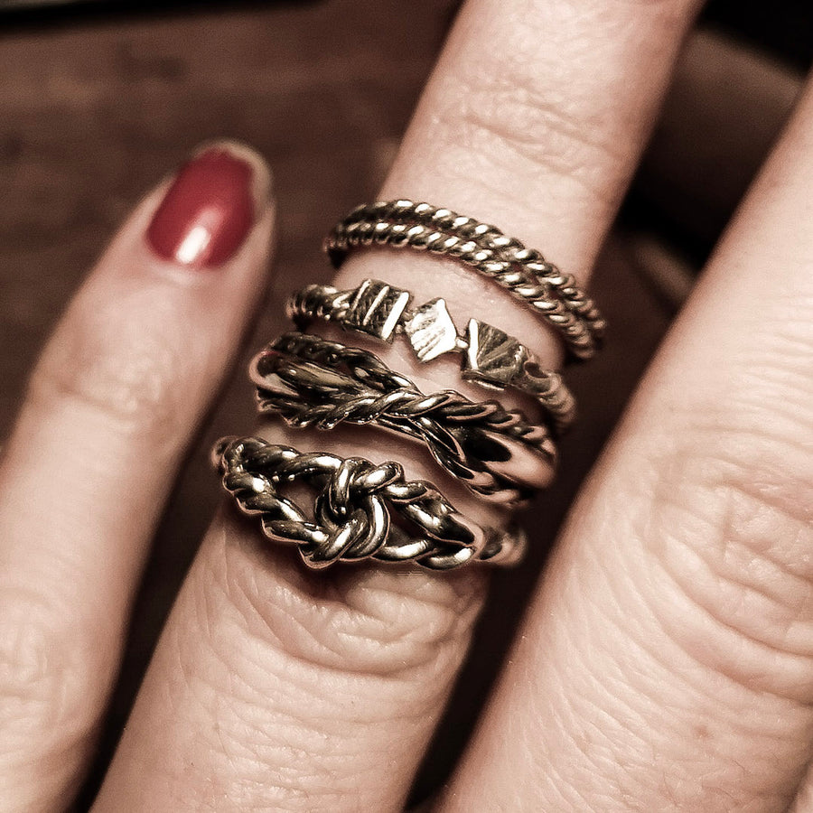 Crossed Rope Ring