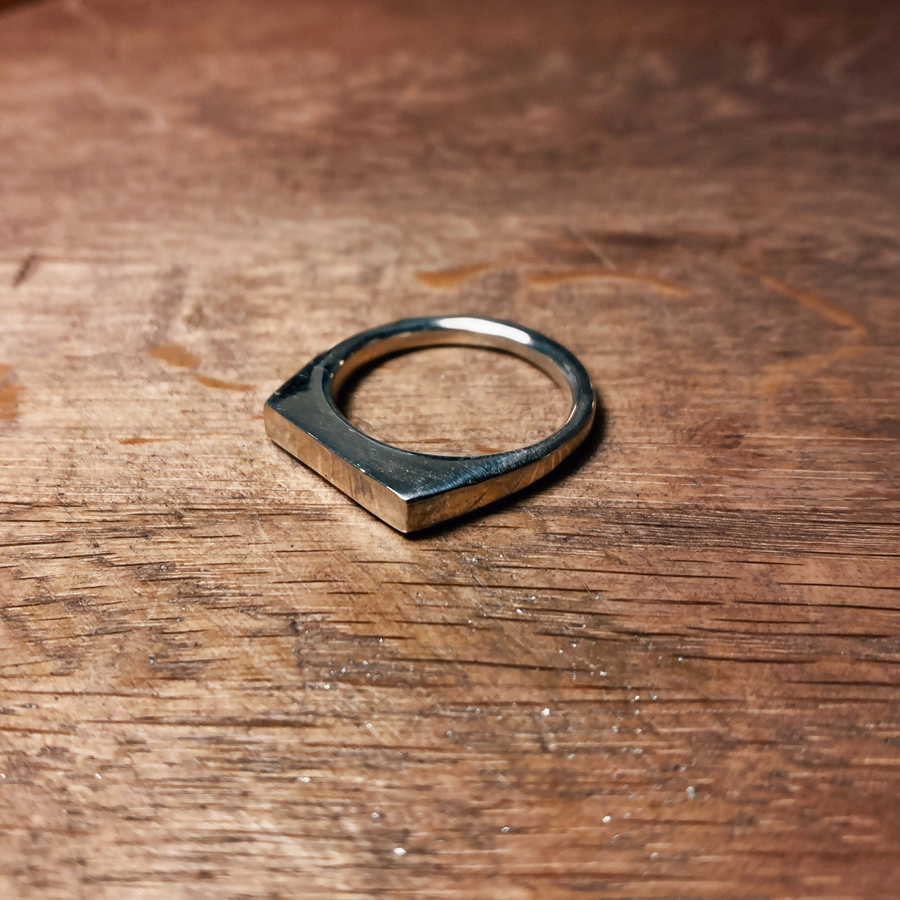 Small Rectangle Signet Ring