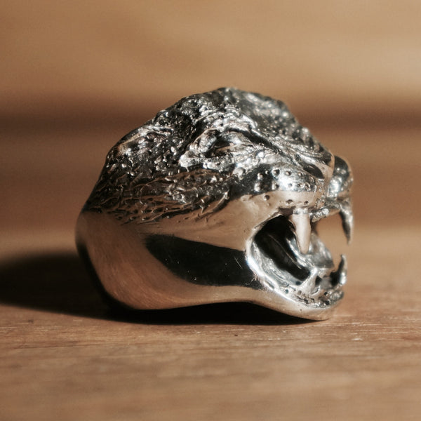 Silver Lion Ring - hand made jewellery silver jewlry