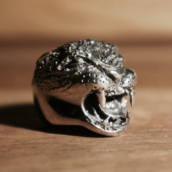 Hex Cavelli Sterling Silver Big Cat Ring - hand made jewellery