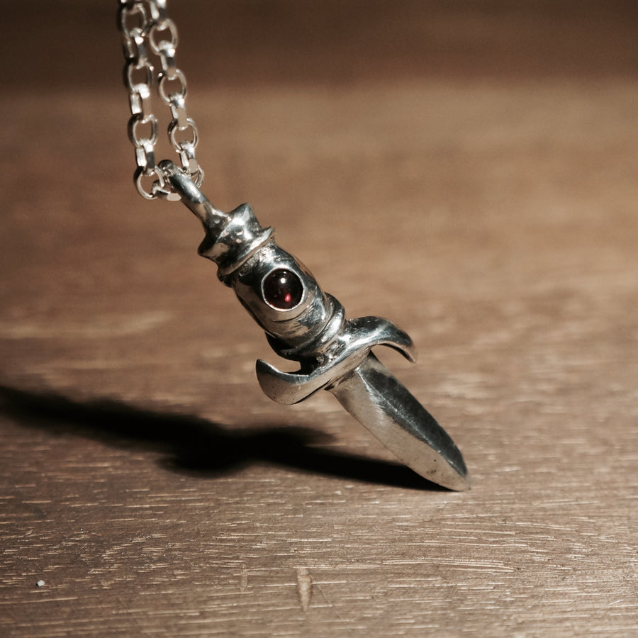 Silver dagger pendant | Knife Necklace | Hex Cavelli Pendant