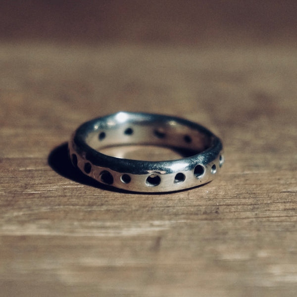Textured Silver Band Ring