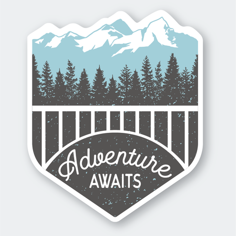 Adventure Awaits Sticker, Seattle/ Northwest, Pike Street Press, Pike Street Press- Pike Street Press