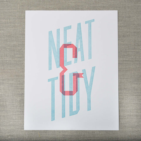 Neat and Tidy Art Print, Seattle/ Northwest, Pike Street Press, Pike Street Press- Pike Street Press