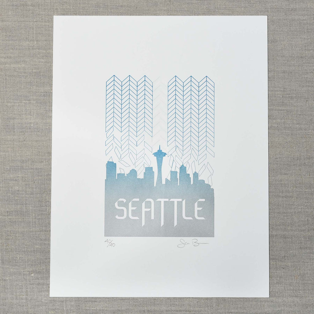 Seattle Skyfall Art Print, Seattle/ Northwest, Pike Street Press, Pike Street Press- Pike Street Press