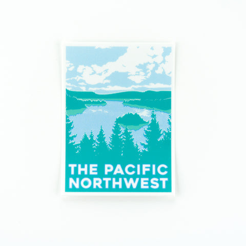 PNW Waterscape Sticker, Seattle/ Northwest, Pike Street Press, Pike Street Press- Pike Street Press