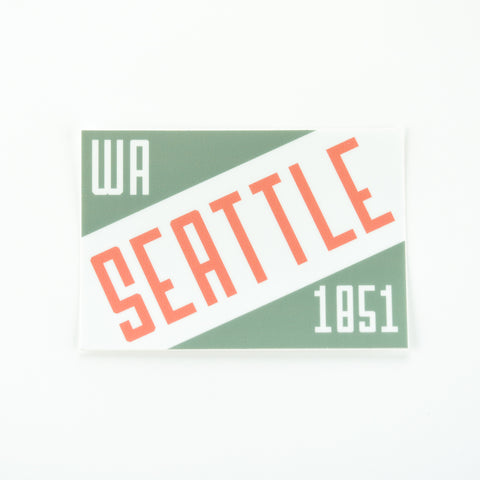 Seattle Diagonal Type Sticker, Seattle/ Northwest, Pike Street Press, Pike Street Press- Pike Street Press