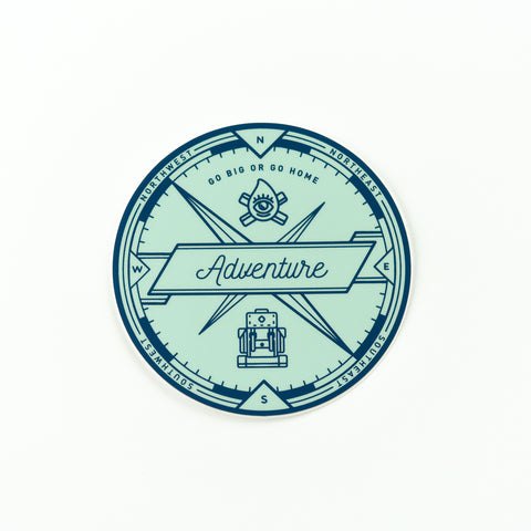 Adventure Compass Sticker, Seattle/ Northwest, Pike Street Press, Pike Street Press- Pike Street Press