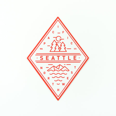 Seattle Red Diamond Sticker, Seattle/ Northwest, Pike Street Press, Pike Street Press- Pike Street Press