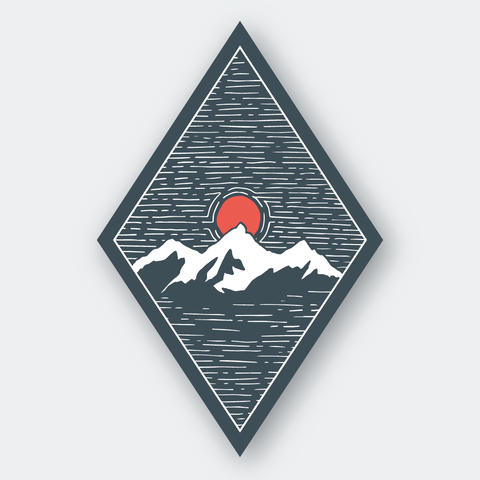 Mountainscape Sticker