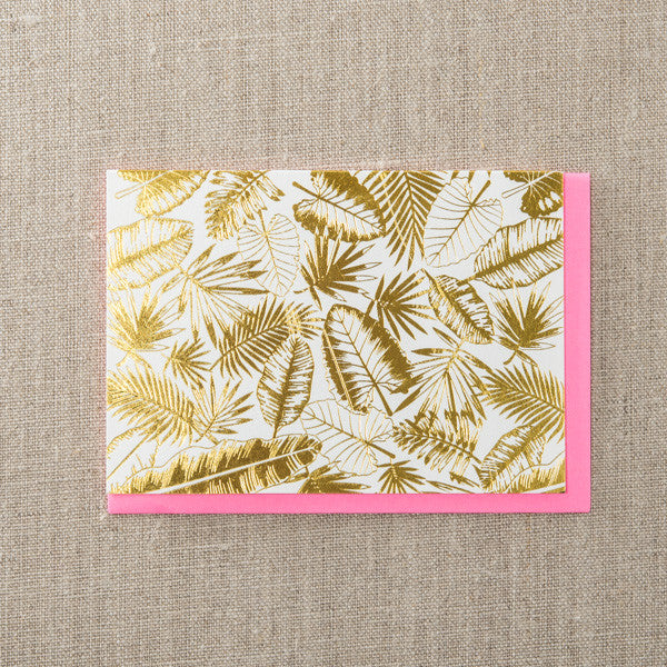 Tropical Foliage Gold, Blank Notes, Pike Street Press, Pike Street Press- Pike Street Press