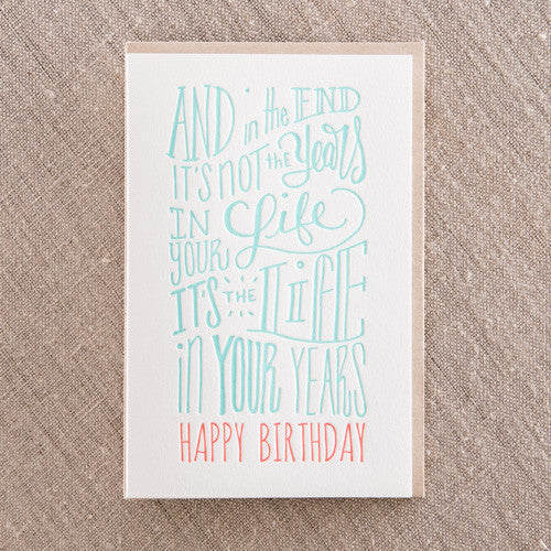 Life in your Years, Birthday, Pike Street Press, Pike Street Press- Pike Street Press