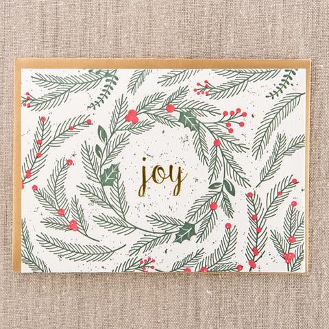 Joy Spruce Foil, Holiday, Pike Street Press, Pike Street Press- Pike Street Press