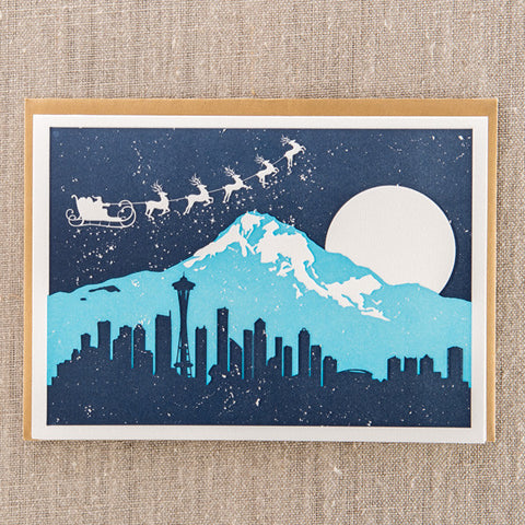 Santa over Seattle, Holiday, Pike Street Press, Pike Street Press- Pike Street Press