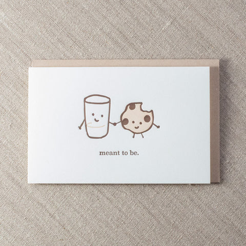 Meant To Be Milk & Cookies Card, Love, Pike Street Press, Pike Street Press- Pike Street Press