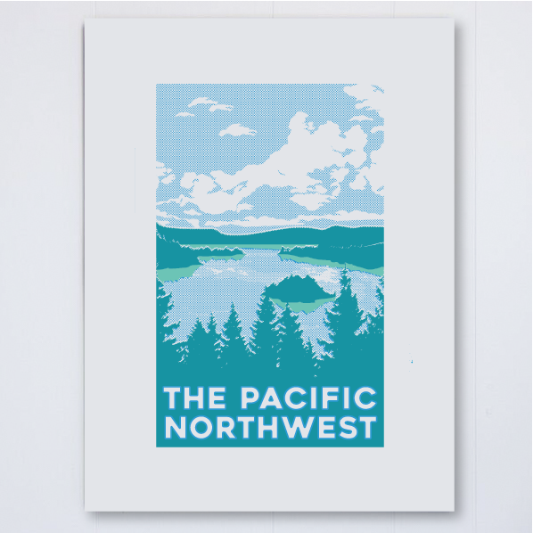 PNW Waterscape Halftone, , Pike Street Press, Pike Street Press- Pike Street Press