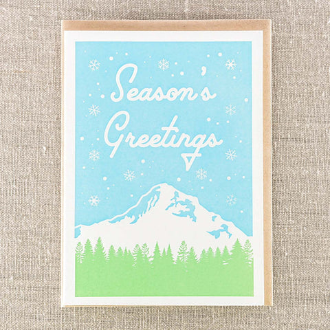 Seasons Greetings Mountian, Holiday, Pike Street Press, Pike Street Press- Pike Street Press