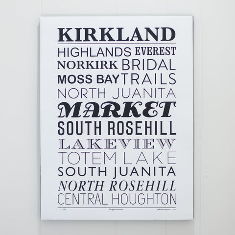 Kirkland Neighborhoods Large, , Pike Street Press, Pike Street Press- Pike Street Press