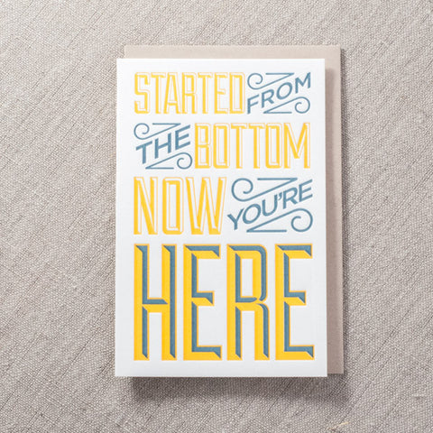 Started from the Bottom Card, Love, Pike Street Press, Pike Street Press- Pike Street Press