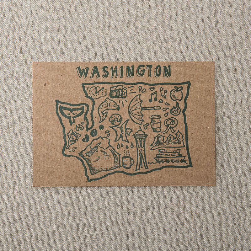Washington Illustrations Map, , Pike Street Press, Pike Street Press- Pike Street Press
