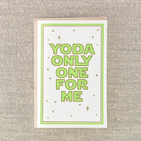 Yoda Only One For Me, Love, Pike Street Press, Pike Street Press- Pike Street Press