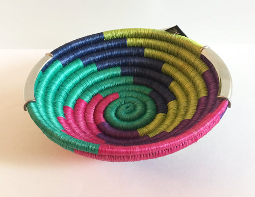 Handcrafted Multi-Colored Small Bowl - Guacamaya - Khabodesigns