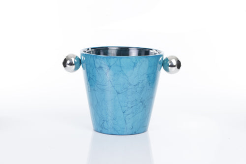 Wine / Champagne Bucket with Silver Detailing - Khabodesigns